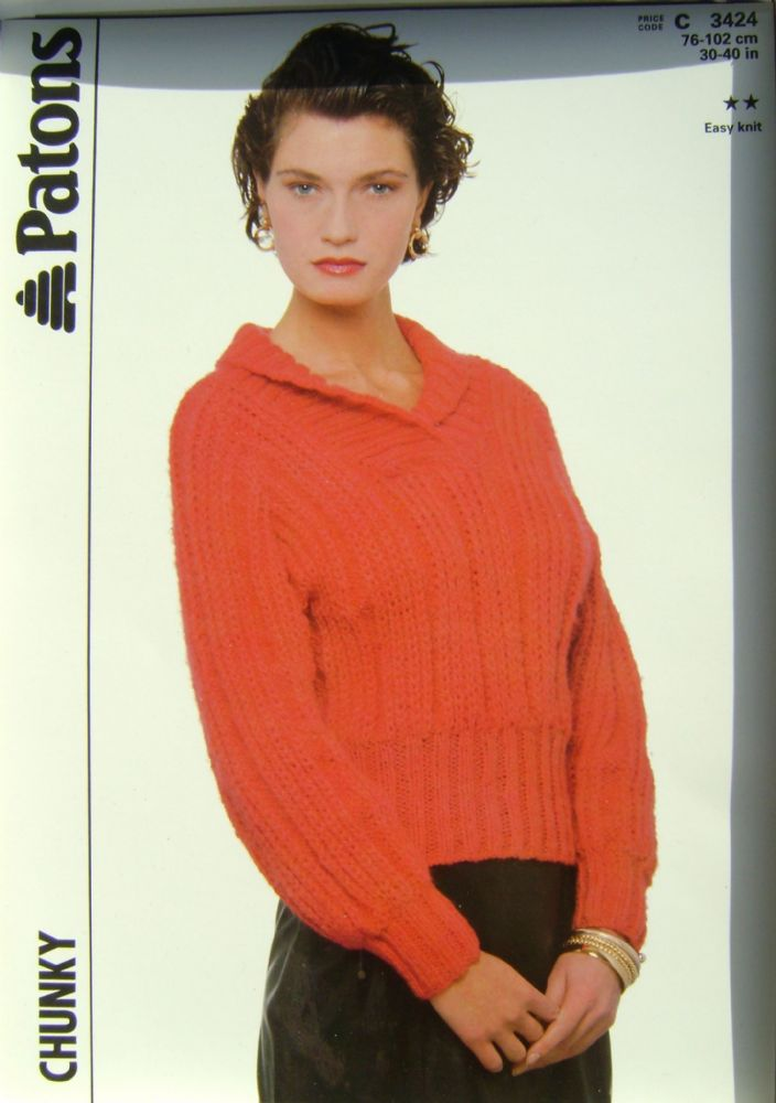 Patons Knitting Pattern 3424